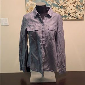 Ann Taylor Chambray Button Up